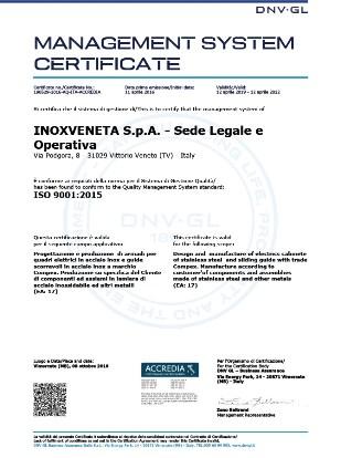 Inoxveneta-Certificazione-ISO9001 2019 rid
